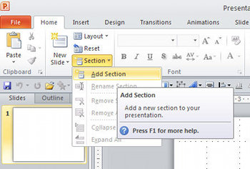 Add a Section