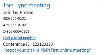 Screenshot of meeting invitation