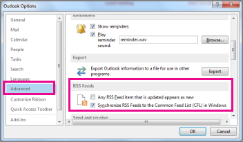 Synchronize RSS Feeds
