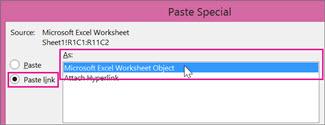 Choose Microsoft Excel