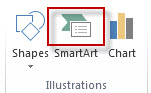 SmartArt in the Illustrations group on the Insert tab