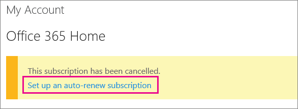 Cancel Office subscription