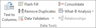 Data Tools group on the Data tab
