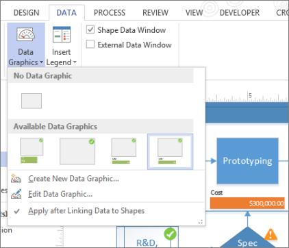 Data tab, Data Graphics
