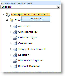 You can use the menu to create new groups.