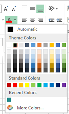 Font color picker