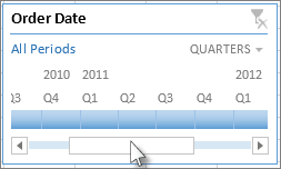 Timeline scroll bar