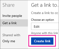 Create a View and Edit link
