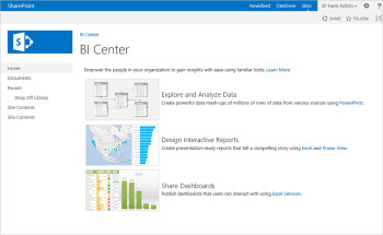 Business Intelligence Site Template