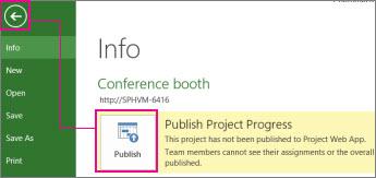 Publish a project image