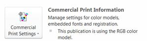 Commercial Print Settings in Publisher 2010