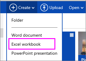 Create a new workbook