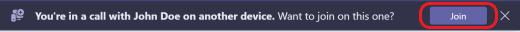 Teams-calls-second device-banner-desktop