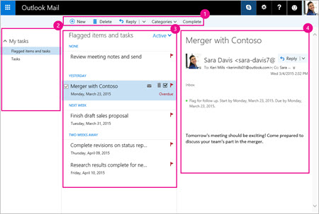 Use Tasks in Outlook com - Outlook