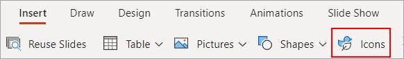 Select Icons.
