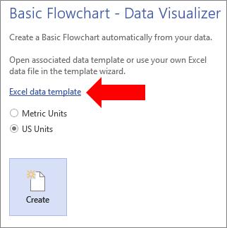 create a data visualizer diagram visio