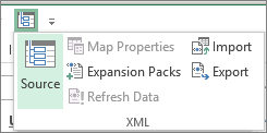 On the Quick Access Toolbar, click XML