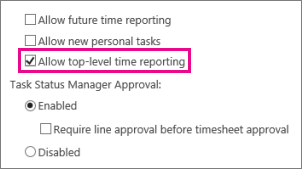 Allow top-level time reporting