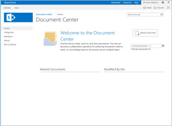 Using templates to create different kinds of sharepoint sites document center site template maxwellsz
