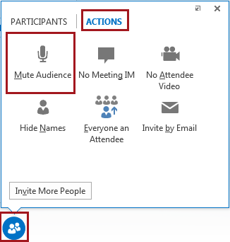 Mute or unmute audio in a Lync Meeting or call - Lync