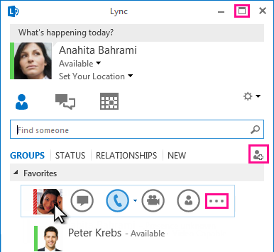 Screen shot of QUICK LYNC BAR