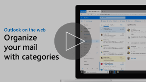 Thumbnail image of Organize email with categories video