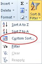 Custom Sort