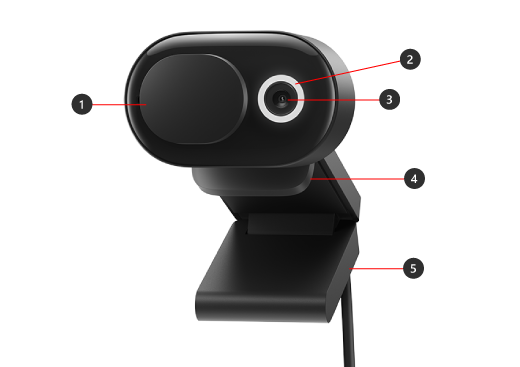 Parts of Microsoft Modern Webcam