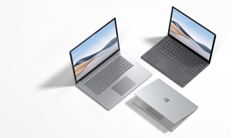 The family of Surface Laptop 4 devices