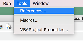 Preferences selection on Tools menu
