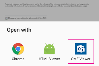 OME Viewer with Android Email app 2