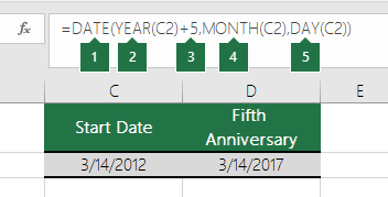 Calculate a date based on another date