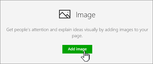 Image Web Part with Add image highlighted.