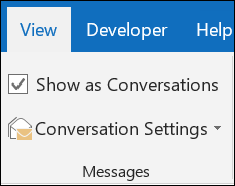 View messages by conversation.