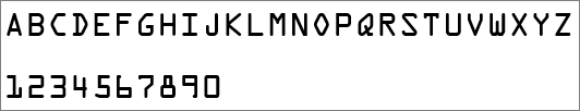 Shows the font used for letters and numbers in an Office product key