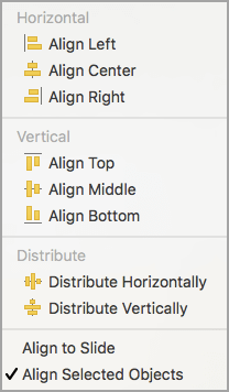 Align Selected Objects