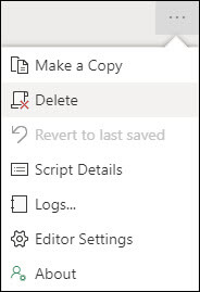Click the ellipsis in the upper right-hand corner to expose the context menu, including the Delete option.