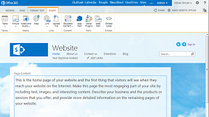 New public website in Office 365