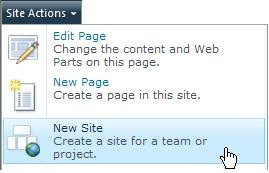 Create a new site