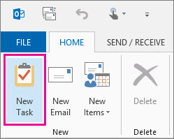 Outlook New Task