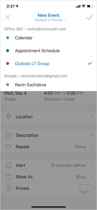 Create Group Calendar Event iOS