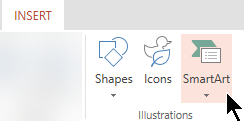 On the Insert tab, select SmartArt