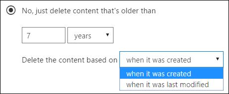 Deletion settings