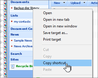 copying shortcut