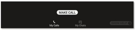 The Make Call button in RealWear for Microsoft Teams