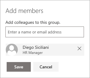 Adding a member to a group