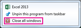 Close all windows option
