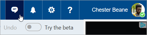 A screenshot of the Skype button