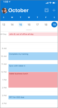 A calendar with multiple colors to show the calendar overlays