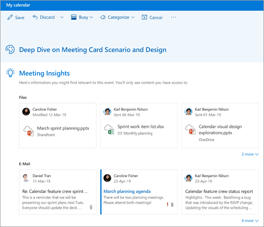A screenshot of meeting insights